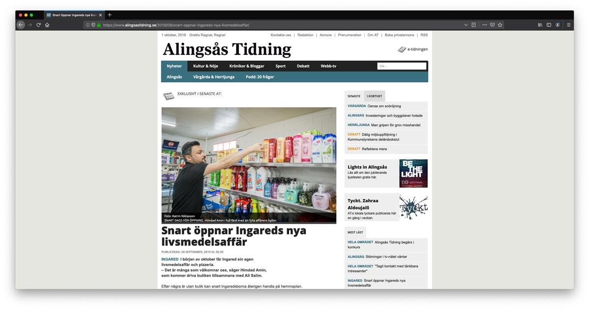 Snart öppnar Ingareds nya livsmedelsaffär